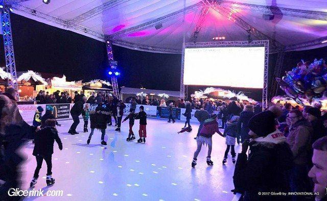 Una pista in ghiaccio sintetico Glice® fa scoppiare il divertimento invernale a Osnabrück in Germania