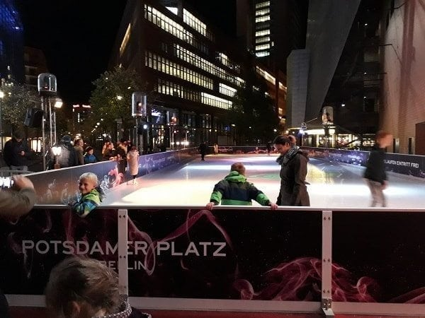 Swing by the Glice® Synthetic Ice Rink at Berlin's Famous Potsdamer Platz