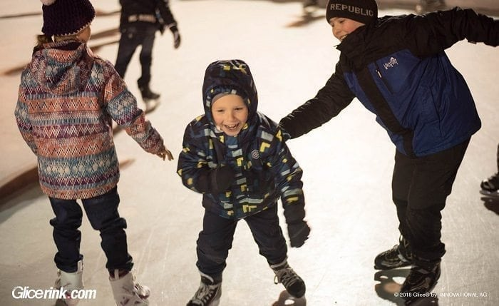 Glice® Synthetic Ice Rink in Uherské Hradiště, Czech Republic Is Big with the Little Ones