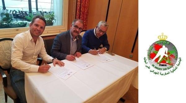 Glice® exklusiver synthetischer Eisbahnlieferant der Royal Moroccan Hockey Federation