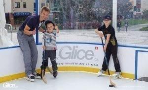 Syntetický led Glice součástí IIHF Hokejového Mistrovství Světa 2019 na Slovensku.