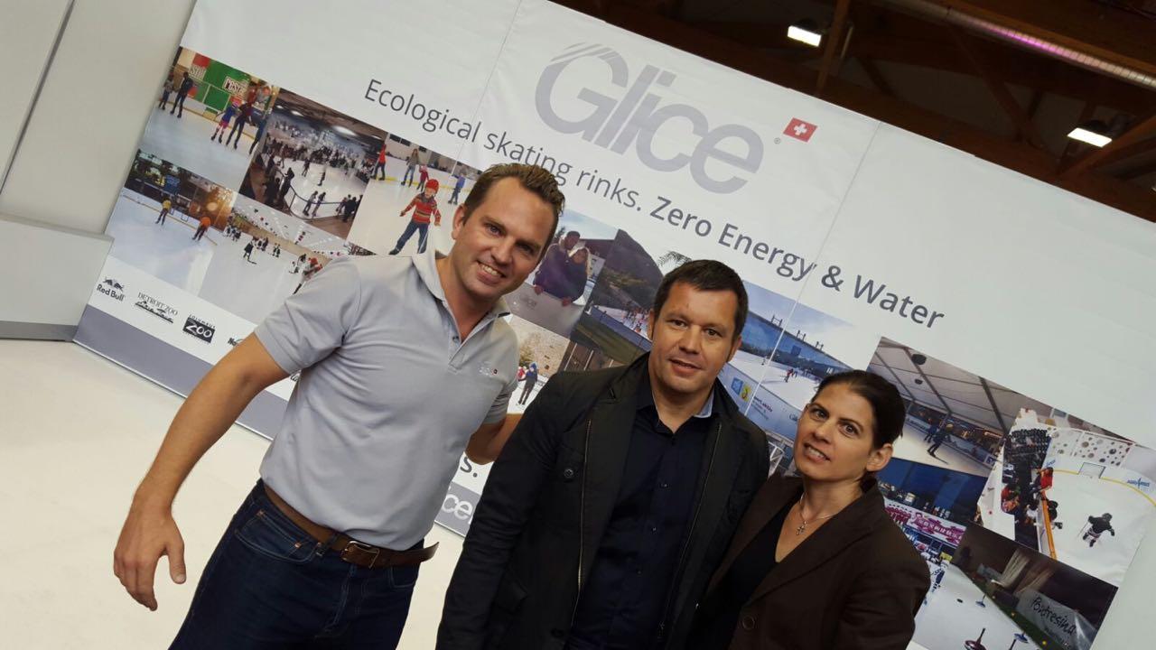 Grande successo alla fiera comunale di Klagenfurt in Austria per le piste di ghiaccio sintetico Glice®
