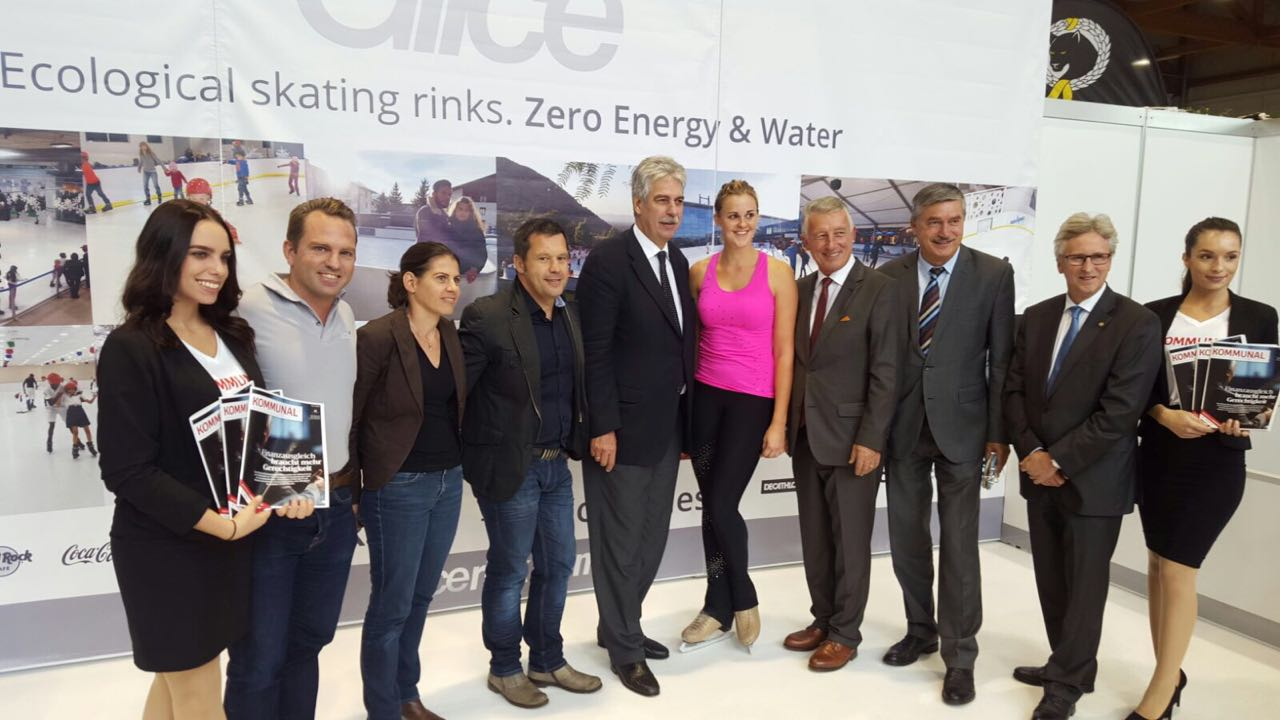 Il Ministro delle Finanze austriaco Hans Jörg Schelling ha incontrato il team di Glice® Ghiaccio Sintetico