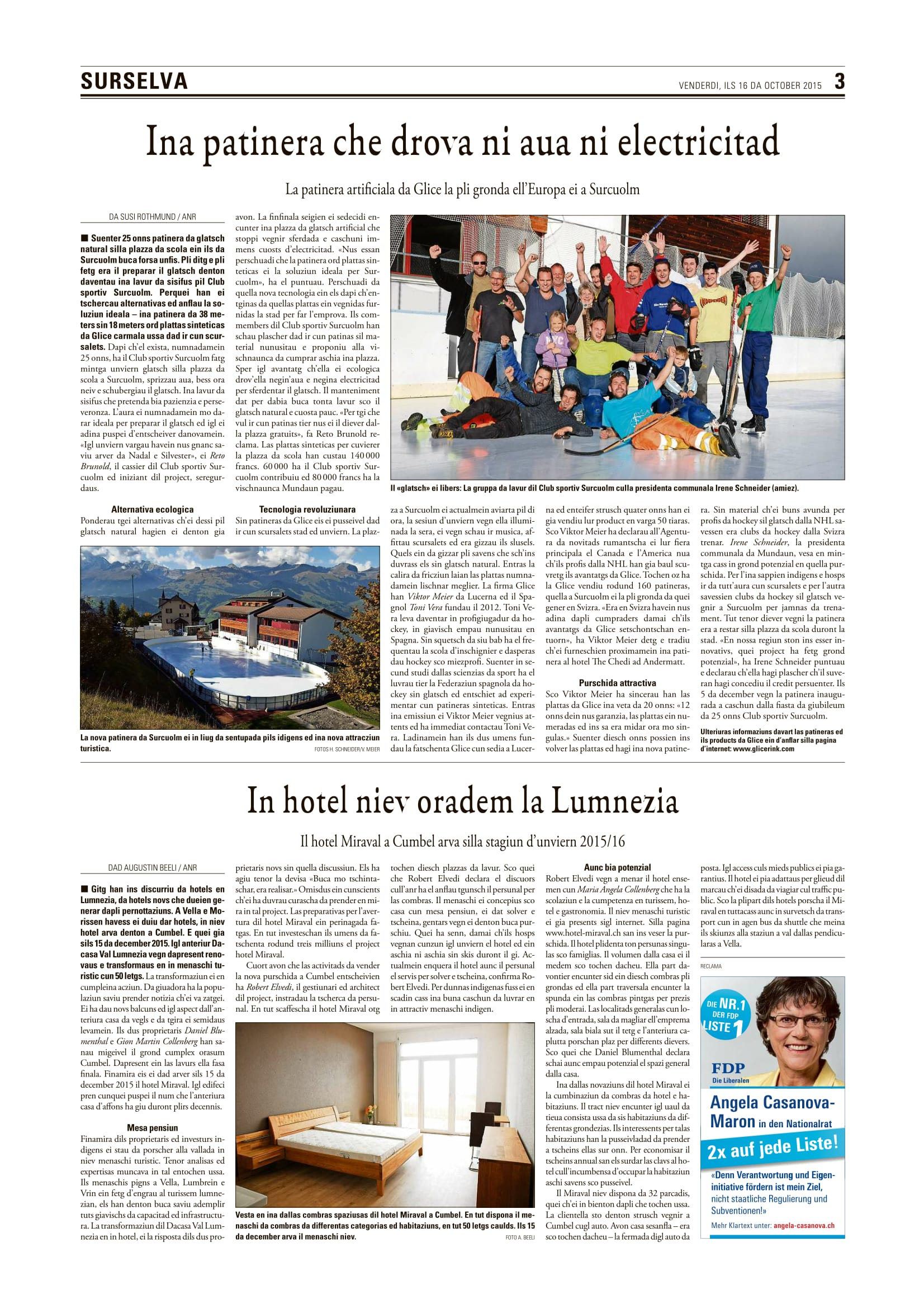 Glice® in the Swiss Rhato-Roman Newspaper-2