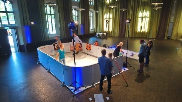 Glice® Portable Synthetic Ice Rink Showcased at Prestigious German Hotel