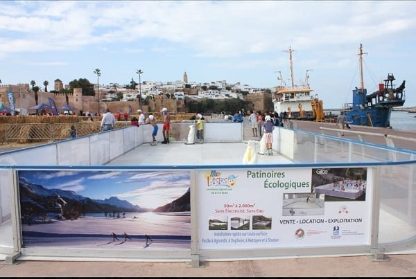 A piece of Canada in Morocco: Glice® Synthetic Ice Rink Set up by Canadian Embassy in Rabat