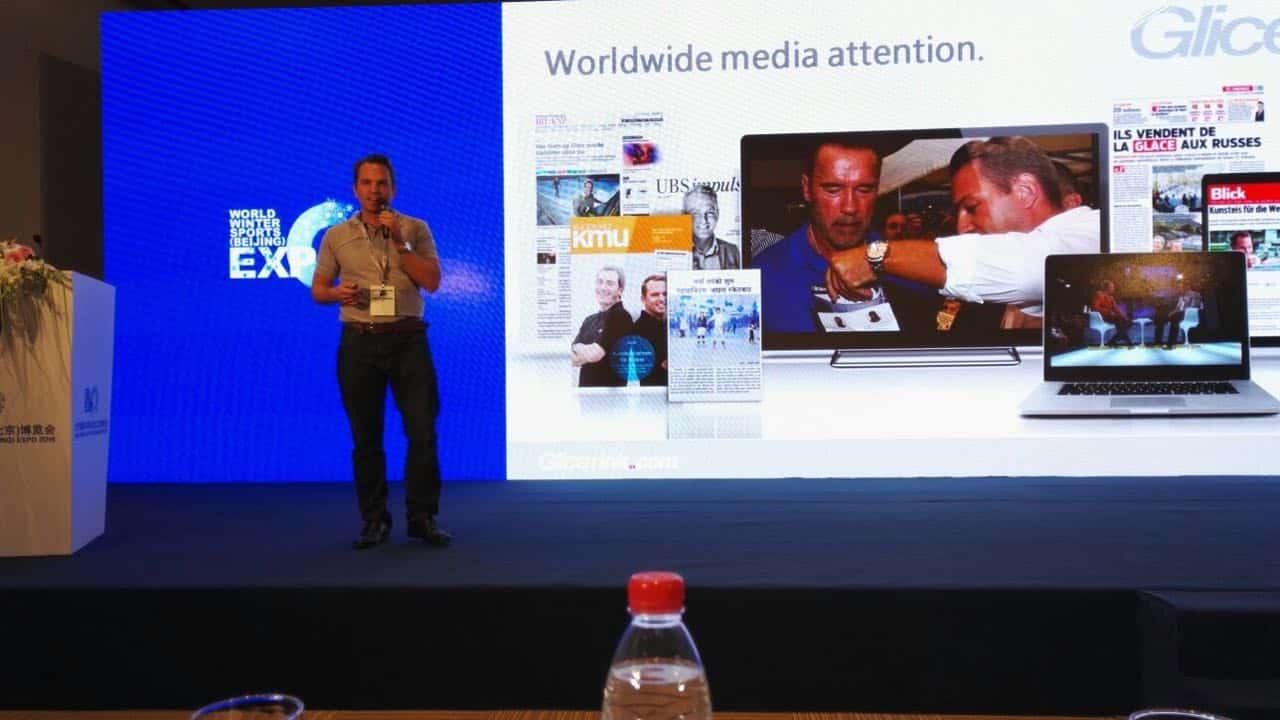 Il discorso del cofondatore di Glice® Ghiaccio Sintetico Viktor Meier al World Winter Sports Expo 2016!