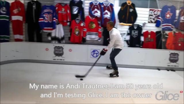 Ice hockey pro, Andi Trautner, reviews Glice® premium synthetic ice