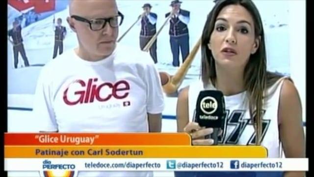 Una pista de hielo sintético Glice®  en la televisión uruguaya Teledoce!
