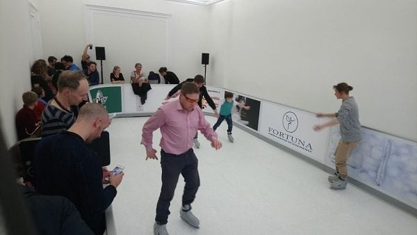 Glice® Synthetic Ice Rink as Interactive Contemporary Art at Berlin Gallery