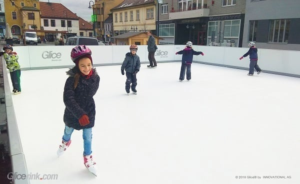 3 Weeks from First Contact to Rink Opening: Glice® Synthetic Ice Rink in Uhersky Brod, Czech Republic