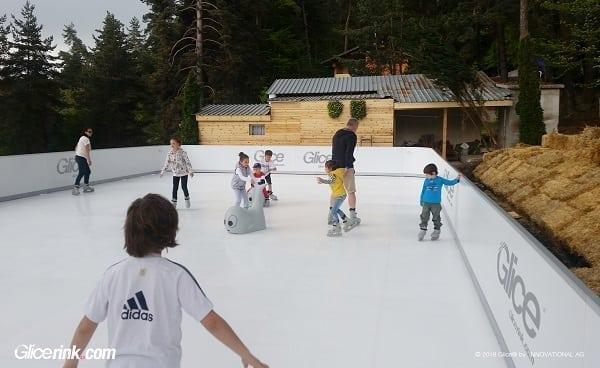 Glice® Artificial Ice Rink at Bulgarian Family Camp & Hotel in the Mountains