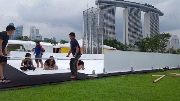 Glice® synthetischen Eisbahn in Singapore