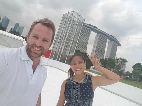 Instalación de una pista de hielo sintética de Glice® en un lugar prestigioso de Singapur