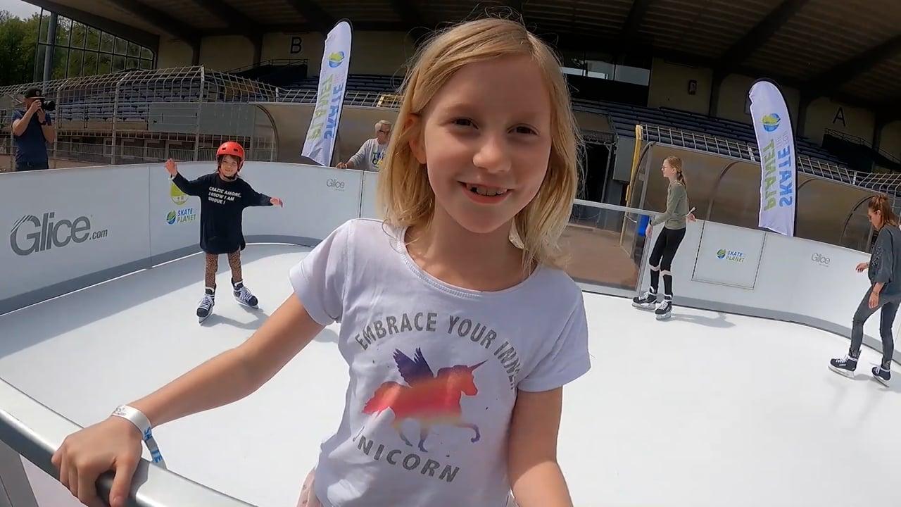 Glice인공 아이스와 함께  지구를 위한 스케이팅!