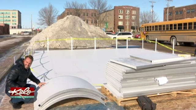 Glice Artificial Ice Rink in Sioux Falls, US as seen on KELOLAND News