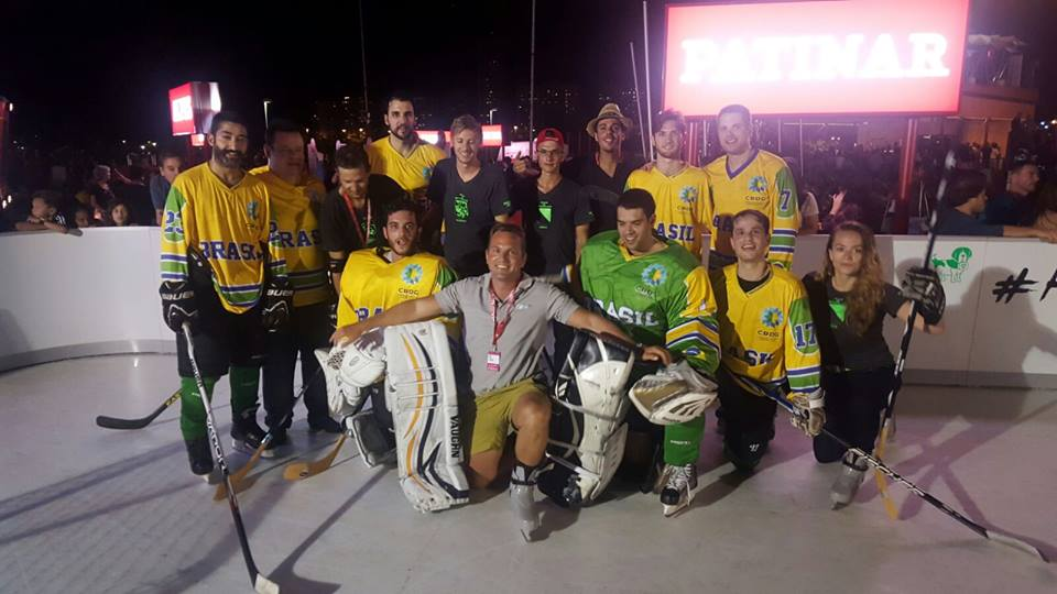 Brazilian National Ice Hockey Team on Glice® synthetic ice