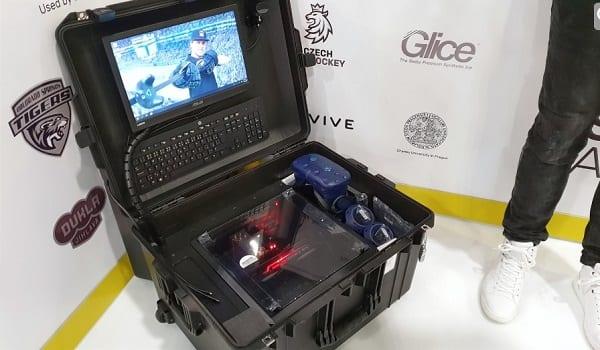 Patrik Eliáš (New Jersey Devils), syntetický led Glice a virtuální realita na CES v Las Vegas