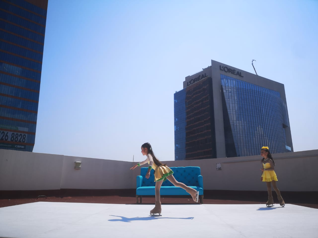 Glice Synthetic Ice Home Diaries – Figure Skating on Rooftop Terrace in Mexico City