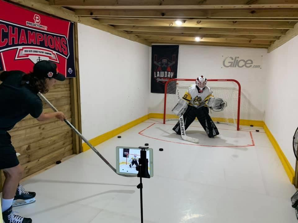 Amazing Home Hockey Setup with Glice Synthetic Ice in the UK