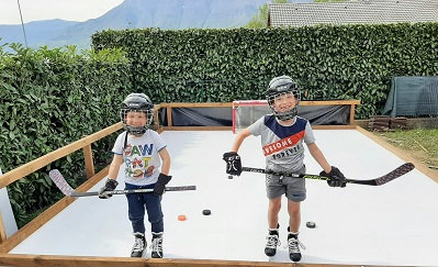 Sweet Home Rink Setup with Glice Synthetic Ice Tiles in France