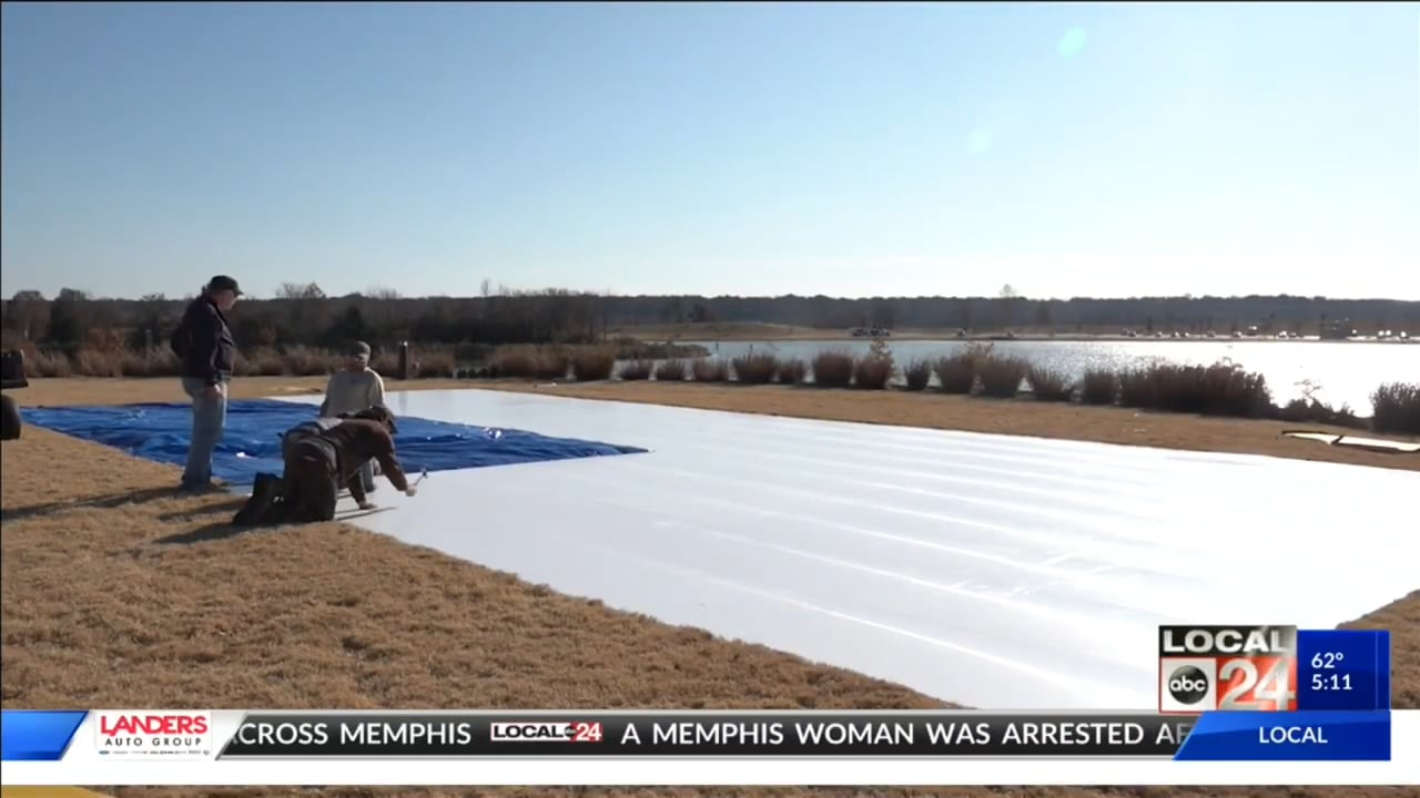 Glice Synthetic Ice Installation Covered by US TV Channel Local 24 Memphis