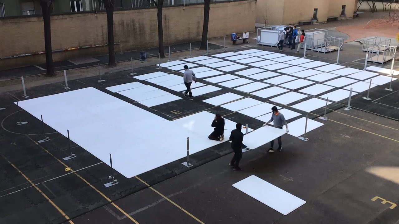 Glice Synthetic Ice Rink Installation at Swiss School Association in Milan
