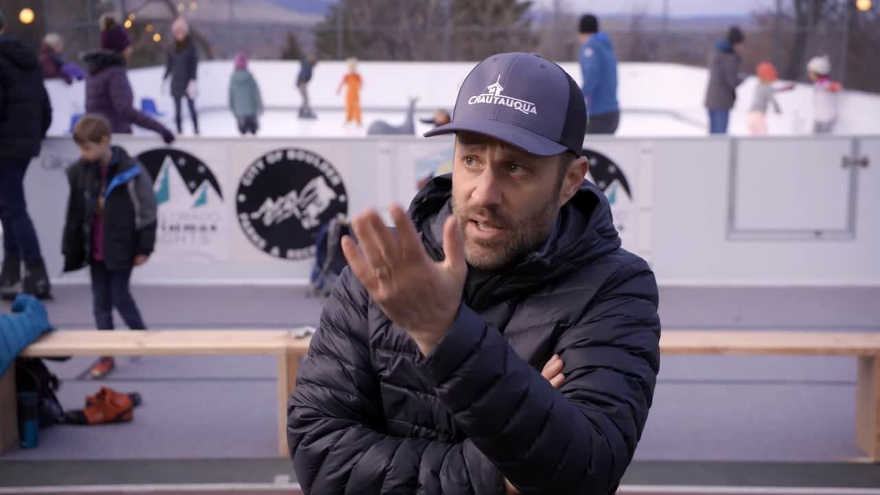 Glice ecologische schaatsbaan in het Colorado Chautauqua Park