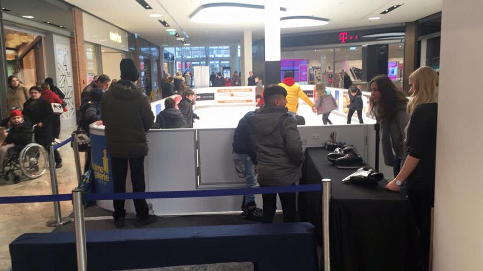 Shopping, Curling, Fun – Free Glice® Synthetic Ice Fun at Volme Shopping Mall Hagen