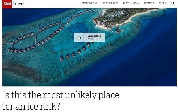 Glice® Synthethic Ice Rink in the Maldives Covered by CNN