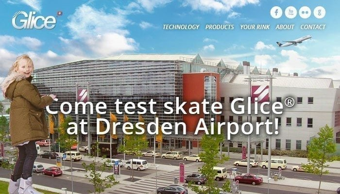 Come Test Skate the Glice® Synthetic Ice Rink at Dresden Airport!