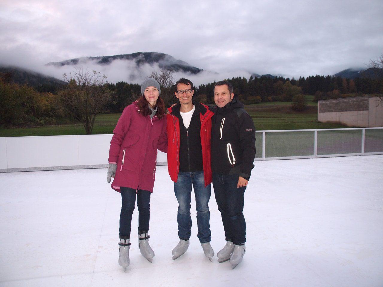 Il nostro Design Director Pablo ha visitato la prima pista austriaca in ghiaccio sintetico Glice®!