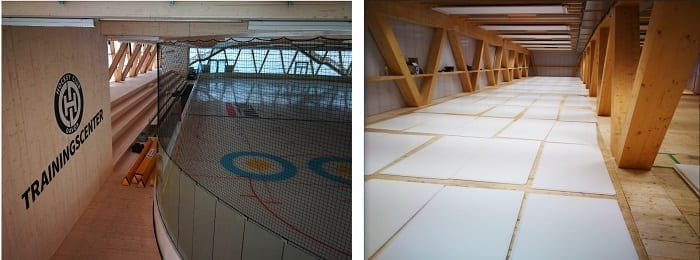 A First Glimpse of the Glice® Synthetic Ice Rink Installation at the New Training Center of Swiss Hockey Club Davos