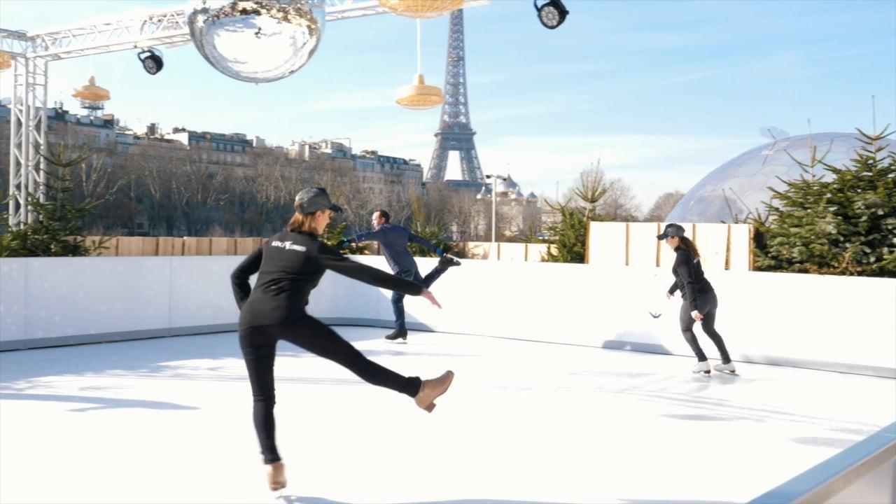 Glice invite ses clients à tester une de ses patinoires