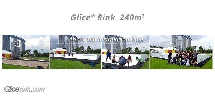 Schnell und einfach – Glice® synthetische Eisbahnen sind im Handumdrehen installiert