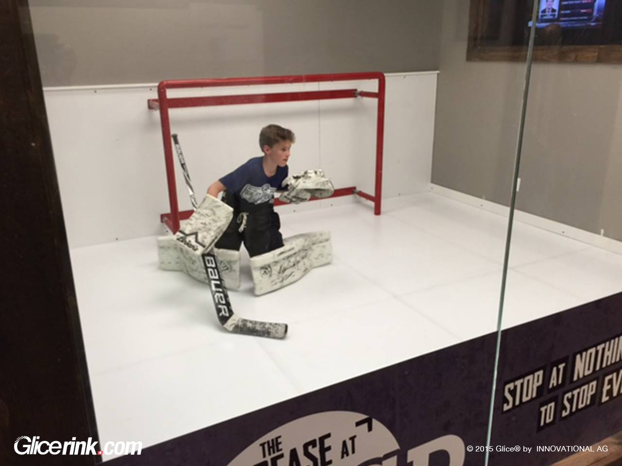 Glice Synthetic Ice Used In Canadian Ice Hockey Goalie Training