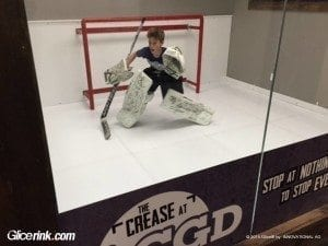 Glice synthetic ice used in Canadian ice-hockey goalie training centre 2