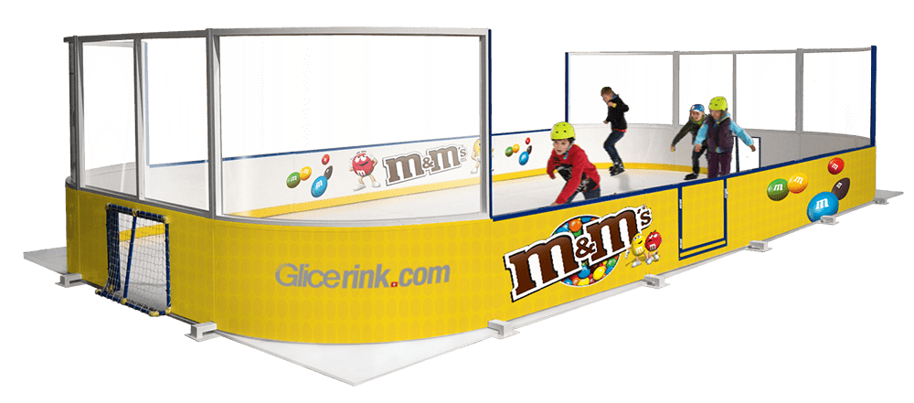 Mini arena ice skating rinks - Glicerink