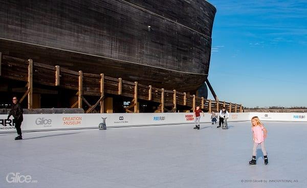 Största Glice® konstis-rinken i Nord Amerika hos Ark Encounter i USA