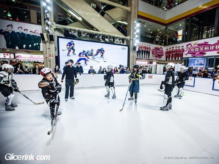 plastic ice rink