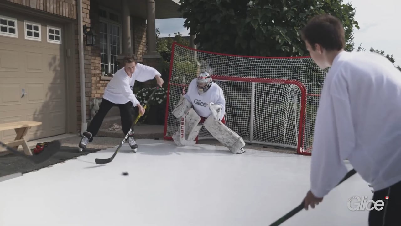 Hockey Legends on Glice Home Synthetic Ice in Canada
