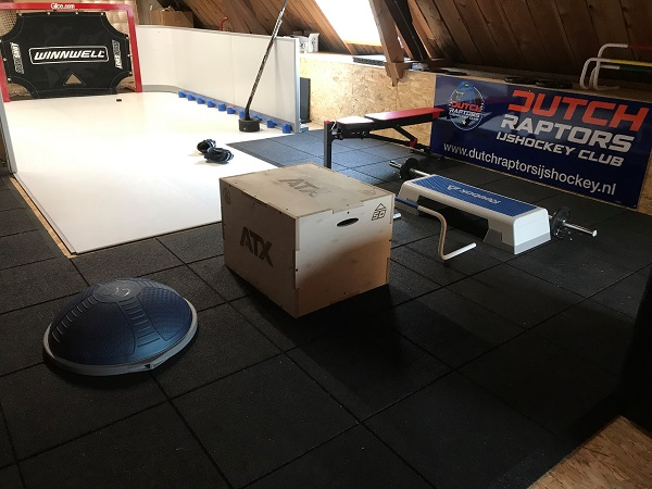 Hockey in the Attic – Synthetic Ice Tiles by Glice for Your Home