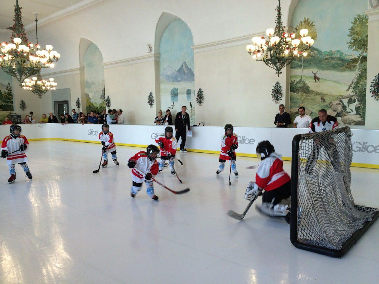 Hockey game Glice fake ice