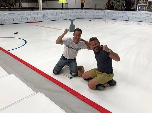 Ice Sports World Upside Down: Installation of First Glice® Artificial Ice Rink in Australia