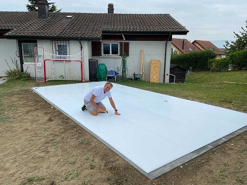 Easily Put A Glice Home Rink In Your Backyard