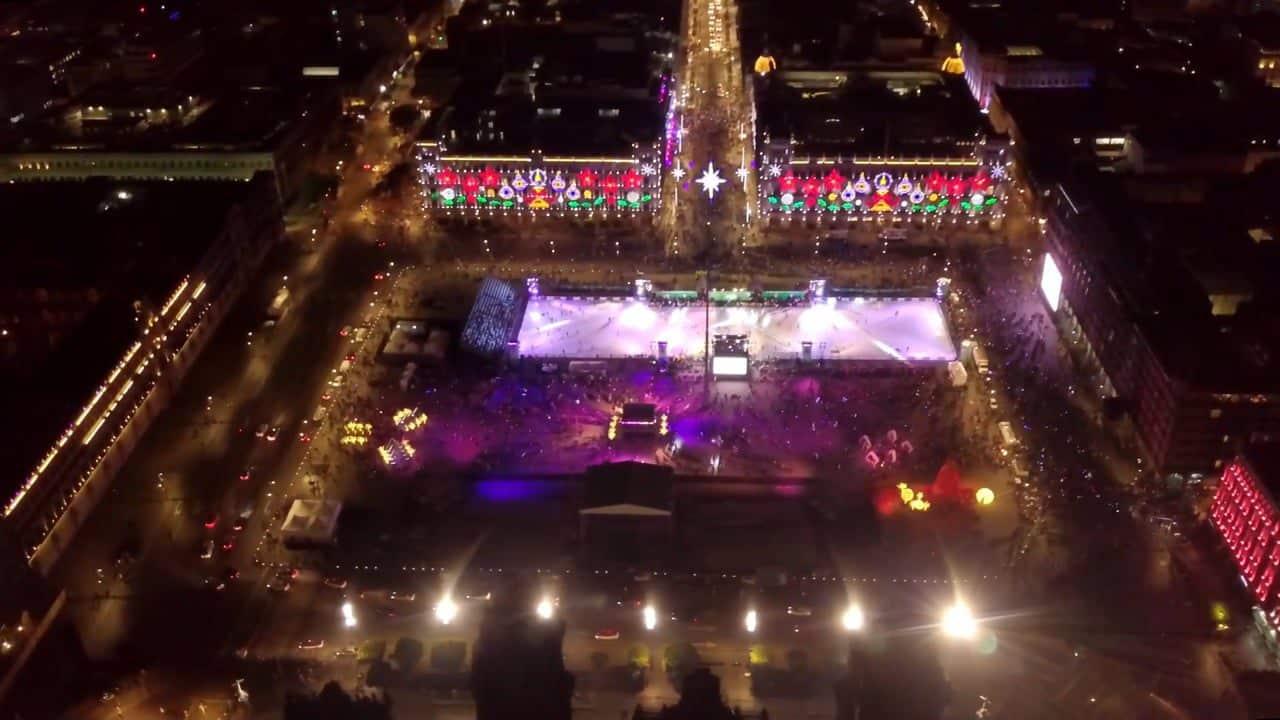 Inauguración de la pista de patinaje más grande del mundo: Glice pista ecológica en la Ciudad de México