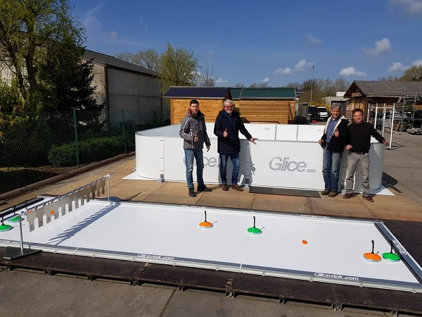 Installation of Glice® Artificial Ice Rink and Eisstock Lane in Belgium