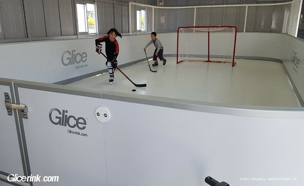 Japanese Parents Set Up Glice® Mini Arena with Glice® Synthetic Ice for Their Kids