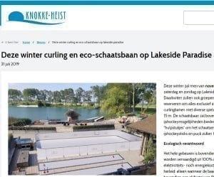 Lakeside Paradise uit Knokke-Heist kiest voor een ecologische kunstijsbaan van Glice