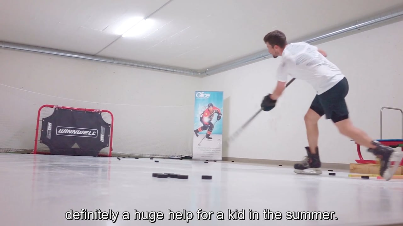 NHL All-Star Roman Josi Practices on His Personal Glice® Synthetic Ice Pad
